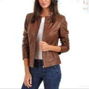 Nordstrom Bod & Christensen Leather Moto Jacket M